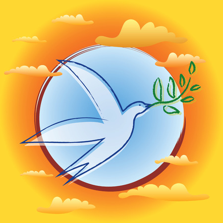 Bird with Olive Branch - Symbol of Peace