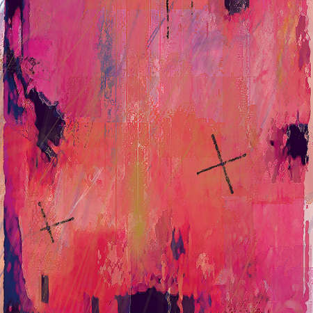 altered: Abstract Background with Red Cross in Stock Photo