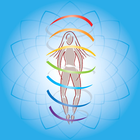 aura: Body and Aura are Lotus Flower Background
