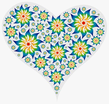 accumulation: Big Heart filled with Mandalas