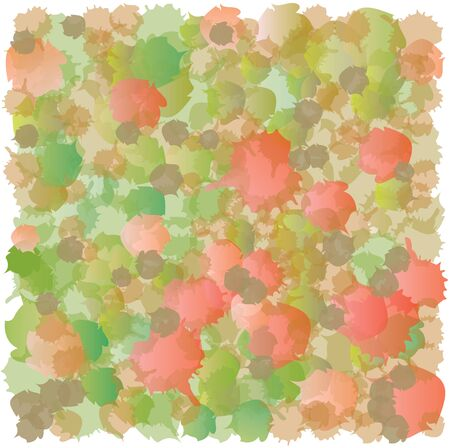 accumulation: Abstract Spots Pattern - Red and Green - Accumulation Illustration