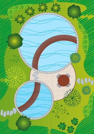 architects: Landscape and Garden Design Plan Illustration