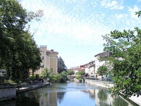 luberon: LIsle-sur-la-Sorgue Typical Town South France