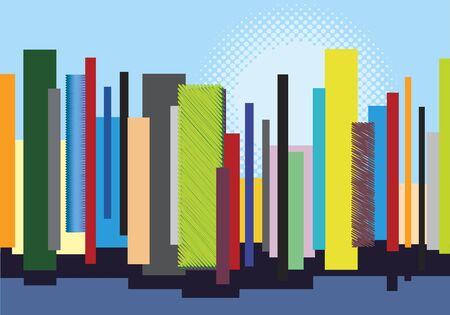 daylight: Abstract City Skyline Multicolored Daylight