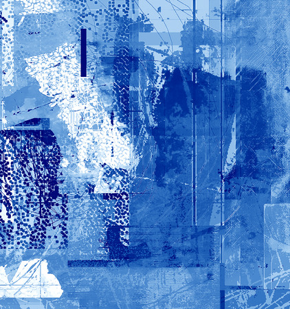 altered: Abstract Background Digital Art Mixed Media in Blue Colors Stock Photo