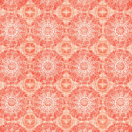 mandalas: Pattern with Circle Mandalas in Orange Background