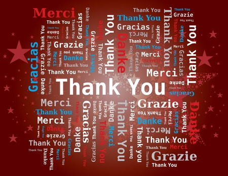 politeness: Word Cloud - Thank You Letters Five Languages ??? ?