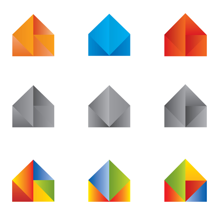 multiple house: Set of Icons and Logo Home  House - Multiple Colors and Elements