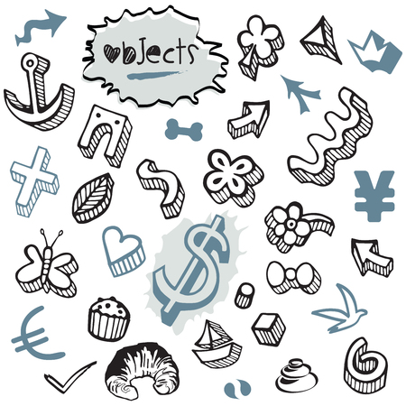 Set of Doodles - Elements and Objects