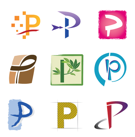 Letter P - Various Shapes and Colors
