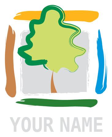 Tree Icon Logo for Business Иллюстрация