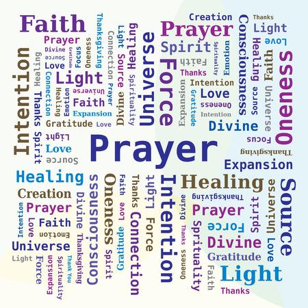 Word Cloud - Prayer Multiple Colors