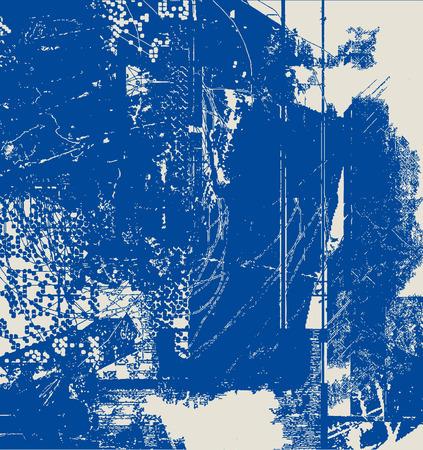 Abstract Background Grunge Effects for Paper Design - Vintage Scratched Grain Pattern Look Ilustração