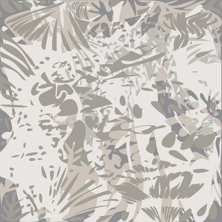 Vector Illustration of Abstract Foliage Pattern Texture Effects - Gray Tones