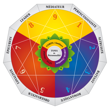 Enneagram - Personality Types Diagram - Testing Map - French Language