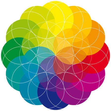 Single Mandala - Rainbow Colors - Multicolored Circle