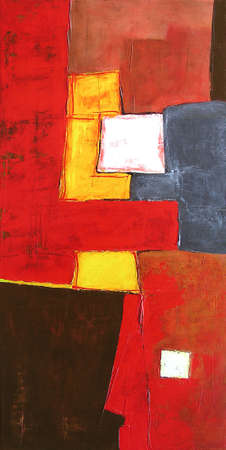 Modern Abstract Art. Illustration From Original Contemporary Painting 写真素材