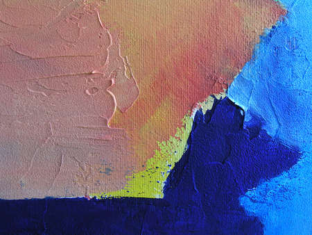 Abstract Texture - Background. Close Up of Original Contemporary Painting. Primary Colors