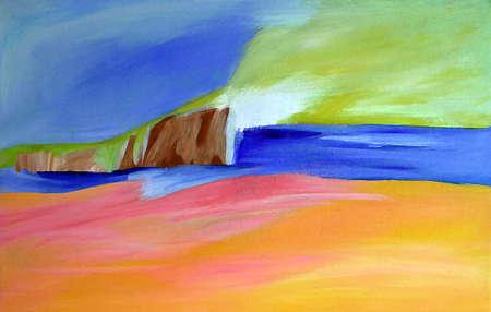 Abstract Landscape / Beach, Hills, Sky + Ocean