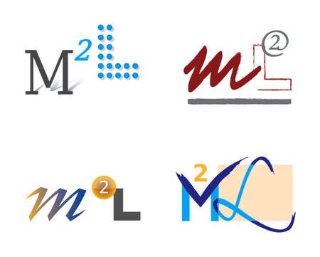 Set of Letter Icons M and L for Logo Design Illustration