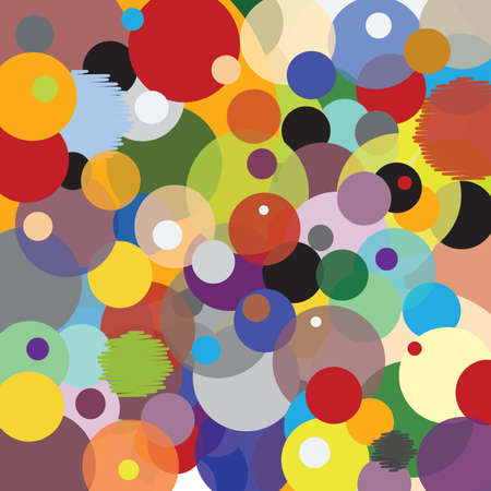 Pattern with Circles - Multicolored - Joyful Accumulation - Vector