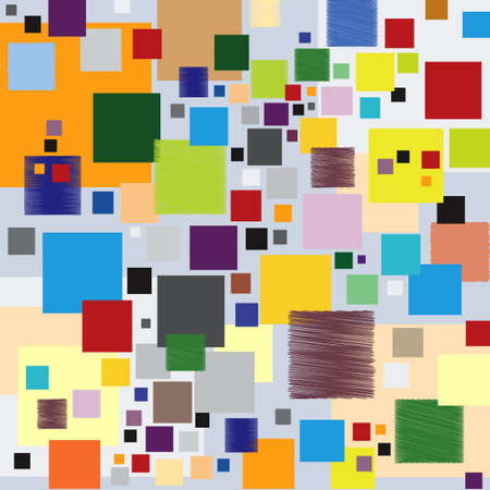 Background Pattern with Squares - Multicolored - Vector