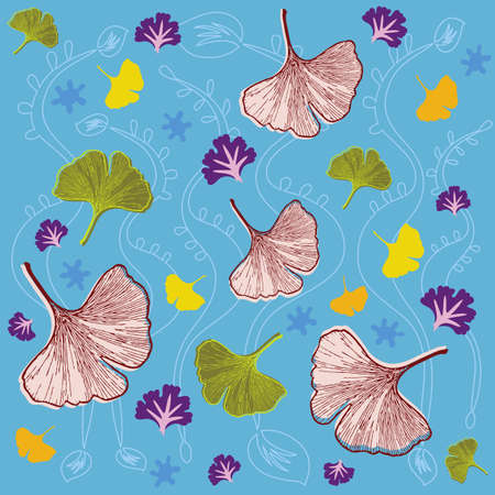 Leaves and Foliage Pattern - Ginkgo - Vector Format