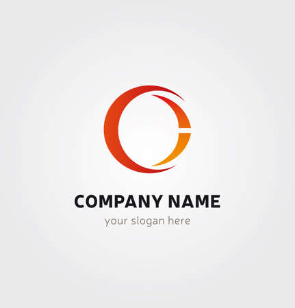 Letter C Icon for Business Card Logo, Mock up in Several Colors  イラスト・ベクター素材