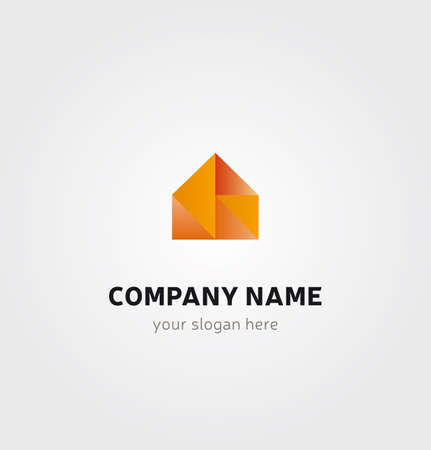 House Icon for Business Card Logo, Mock up in Several Colors - Real Estate Branding
