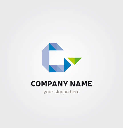 Letter G Icon for Business Card Logo, Mock up in Several Colors  イラスト・ベクター素材