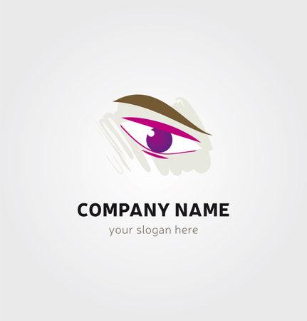Single Logo - Eye and Eyebrow Icon for Company Business Logo