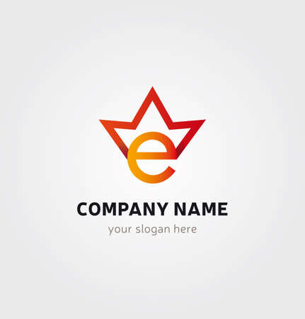 Single Logo Design -E letter with Crown for Company Branding