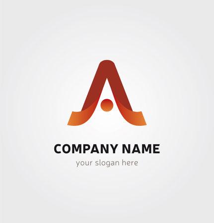 Single Logo Design - A Letter Icon Person Silhouette