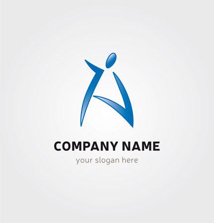 Single Logo Design -Silhouette A Letter Shape Illustration