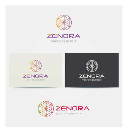 Tree of Life Icon, Logo for Corporate Business, Card Mock up in Several Colors