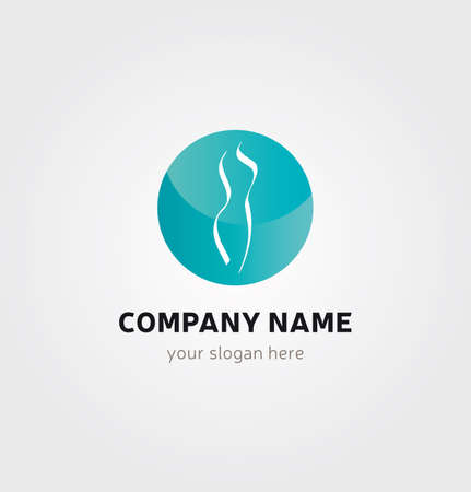 Single Logo - Woman Body Silhouette in Circle for Company Branding Illustration