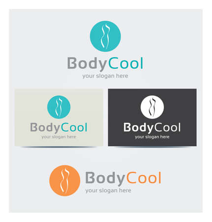 Body Icon, Logo for Corporate Business, Card Mock up in Several Colors