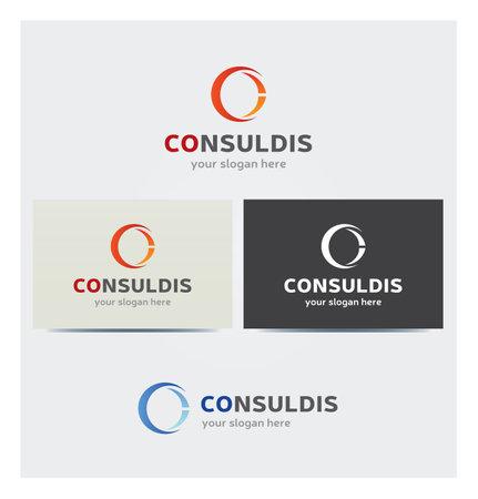 Letter C Icon for Business Card Logo, Mock up in Several Colors Illustration