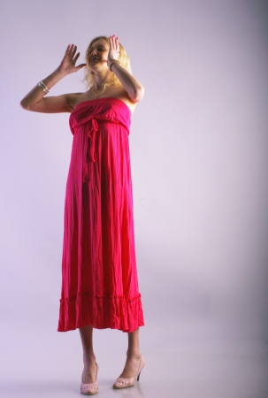 Girl in red dress Stock Photo - 17386218