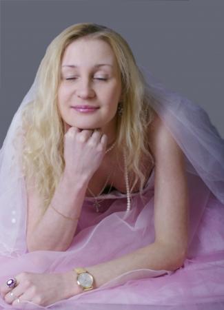 pink bride photo