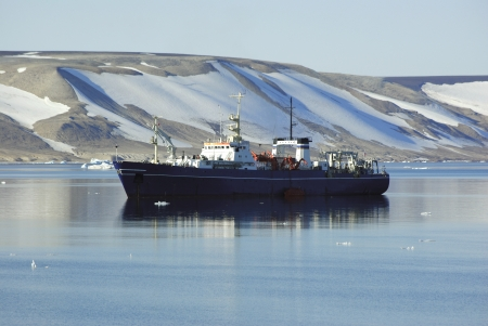 ship of the Arctic Ocean off the coast of Spitsbergen