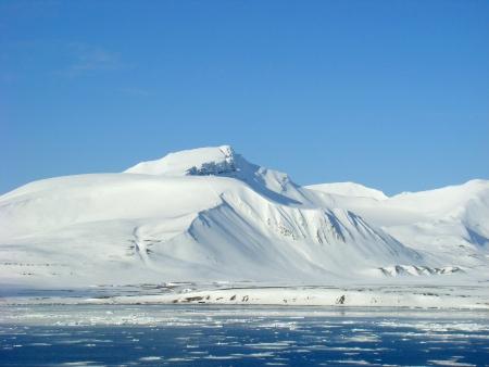 goodliness: Snowy Mountain, Svalbard, Spitzbergen