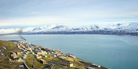 Barentsburg, Svalbard, Spitzbergen Stock Photo
