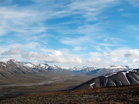 mountains of Spitsbergen, mountains of Svalbard