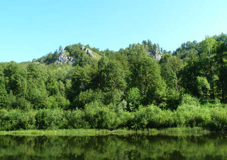 Ural mountains by the river