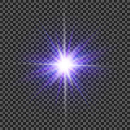 Color light effect with stars bursts with sparkles on transparent background. Transparent stars.