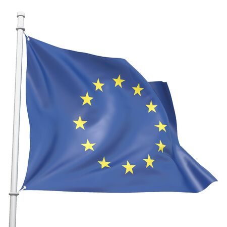 Eurounion 3d flag isolated on white Stock Photo - 17456742