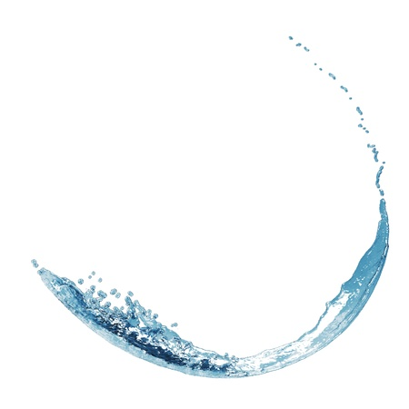 blue water splash isolated on Stock Photo - 17456744