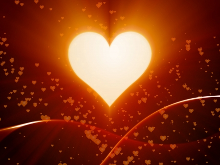 valentine day with heart, love, bokeh Stock Photo - 17456741