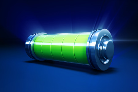 3d illustration of full alkaline battery Archivio Fotografico